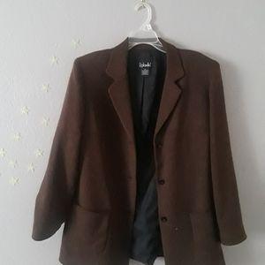 Brown knit blazer